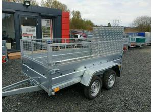 BRAND NEW 7.7 x 4.2 DOUBLE AXLE TRAILER WITH 40CM MESH AND A RAMP