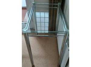 Glass Hall Table / Side Table