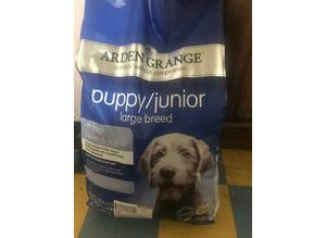 Dog food 12 kg Arden grange large breed puppy food new