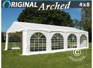 "Marquee Original 4x8 m PVC, ""Arched"", White"