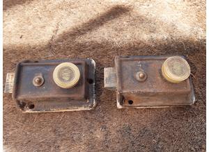 Vintage Union Door Locks x 2