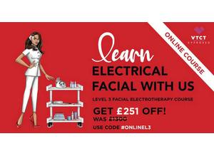 ONLINE VTCT Level 3 Facial Electrotherapy COURSE