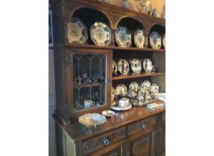 Old Charm by Wood Bros. oak sideboard with dresser top
