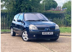 Renault Clio, 2003 (52) Blue Hatchback, Manual Petrol, 116,467 miles, LONG MOT
