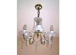 Beautiful Dining Room Lamp with Crystal Drops
