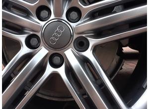 Audi wheel locknut removal, mobile service.