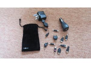 Nexxus Phone/Tablet Charger Kit comprising mains charger, car charger and 9 connectors