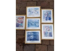 6 Various Modern Prints In Matching Frames
