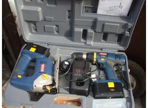 Ryobi jigsaw & drill combi set