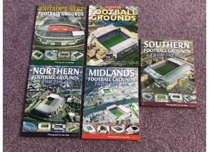 NEW. Fantastic set of 5 large books, 'Football Grounds from the Air'
