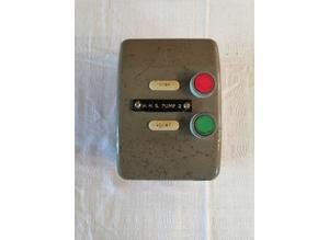 Vintage / Rare Crabtree B.15 Industrial 3 Phase Motor Start / Stop Switch, Metal Case, 600V - 10A