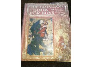 Crimson Book For Boys 1918 Book