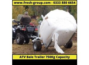 ATV Bale Trailer, quad bale trailer for moving round bale of hay, haylage, silage and straw.