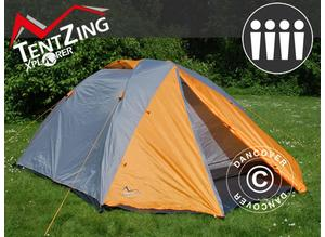 Camping tent, TentZing Xplorer, 4 persons, Orange/Grey