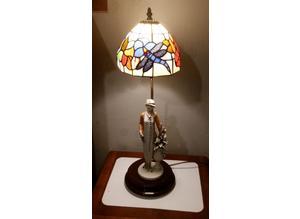 Original vintage Giuseppe Armani lamp & tiffany style shade