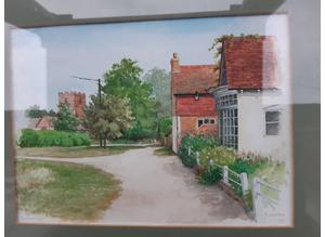 Frank Clarke Original Watercolour Rotherwick Hampshire