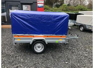 BRAND NEW 2021 MODEL 6.7x 3.7 SINGLE AXLE TEMARED ECO TRAILER WITH FRAME AND COVER 80CM 750KG