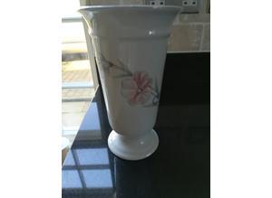Pretty Floral Ceramic 8 Inch Tall Vase