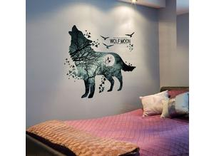 Wolf Moon Wall Stickers Home art design