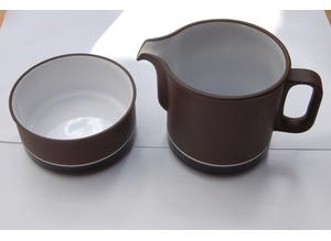 Hornsea 'Contrast' 1 1/4 pint Milk Jug and Sugar Bowl in Excellent Condition