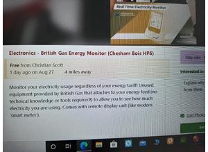 British gas energy monitor new