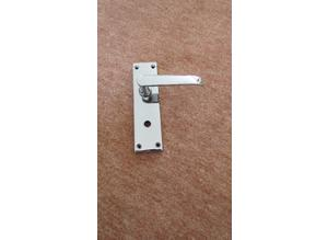 Bathroom/WC Lever Latch Door Handles in Polished Chrome
