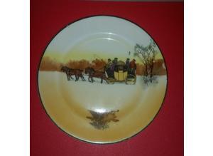 Antique royal doulton winter plate