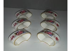Set of six  English bone china napkin rings by  royal crown derby