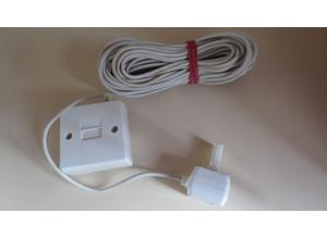 Telephone extension cable lead 10 Metres with wall mounting box