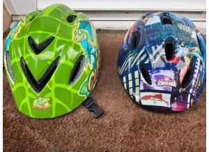 Childs Cycle Helmets x 2 As New