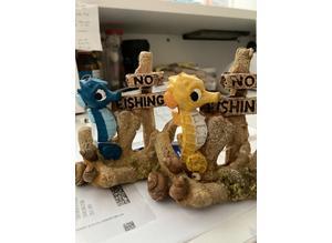 9.5cm CLASSIC Seahorse No Fishing