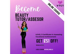 Online VTCT Level 3 Certificate in Assessing Vocational  Achievement
