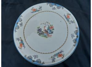 Oriental Style 10 Inch Ceramic Serving Plate