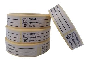Use By Labels, Food Labels,Use By Stickers 500 On A Roll 65 mm x 18 mm,