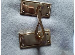 2 pairs of solid brass doorhandles