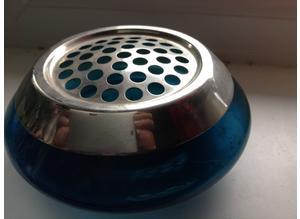 Vintage blue glass based posy bowl