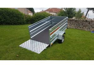 BRAND NEW 7.7x4.2 SINGLE AXLE TRAILER- CAMPING TRAILER DOUBLE BROADSIDE TIPPING WITH RAMP