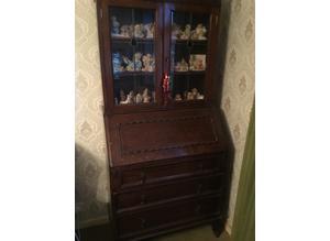 Antique Bureau/Display cupboard