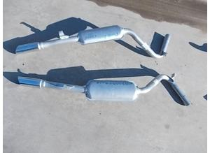 Rear exhaust silencers for Fiat Dino 2000 Coup