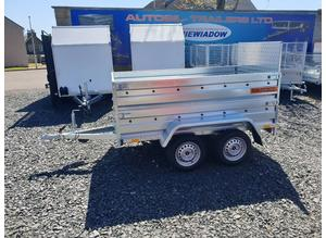BRAND NEW MODEL 7.7x4.2 DOUBLE AXLE  DOUBLE BROADSIDE TRAILER WITH RAMP TIPPING