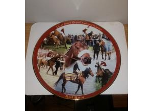 Large vintage platter celebrating Red Rum