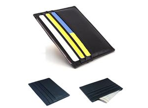 Brand New Pocket Credit Card Holder in Real Leather in a Slim Case
