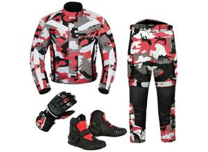(Camo Red) 6 Packs Design Suit - Jacket + Trouser + Gloves + Boots (Short)