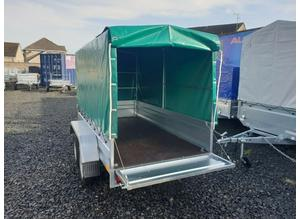 BRAND NEW 8.7x4.2 TWIN AXLE TRAILER WITH FRAME AND COVER TIPPING