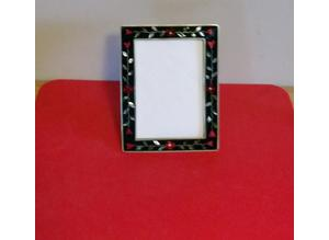 Silver Alpaca Picture Frame with floral design