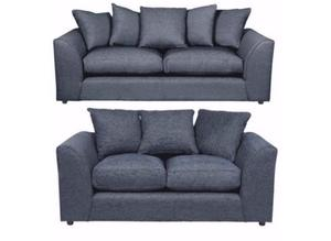 DYLAN CHENILLE GREY 3/2 SEATER SOFA