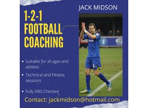 Football coaching 1-2-1 Kent and Medway
