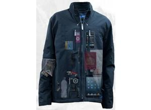 Brand new AyeGear 22 - the ultimate bulge free, water resistant, 22 pocket geek traveler jacket Size XL