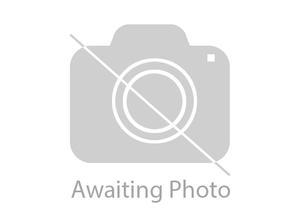 2 tall teak display cupboards with bureau