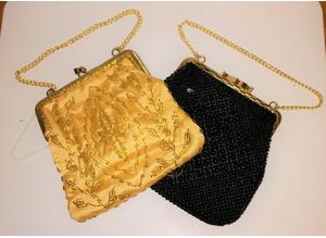 2 retro 1970s beaded purses